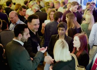 Businesses converge for networking huddle