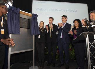 Greg Clark officially opens Boeing Sheffield