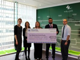 Sheffield solicitors beat fundraising target for cancer charity