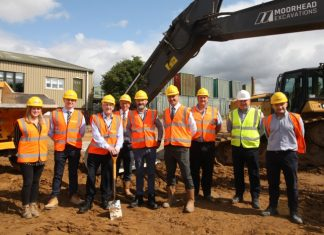 Work begins on new office for e-commerce & distribution company