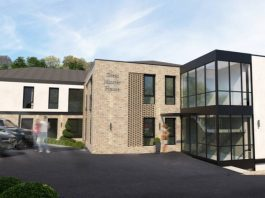Works begins transforming former office into apartments