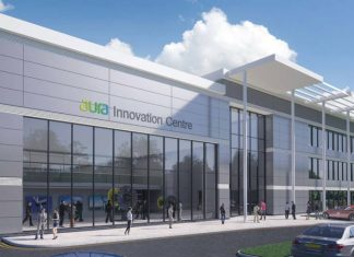 £12m Aura Innovation Centre reaches major milestone